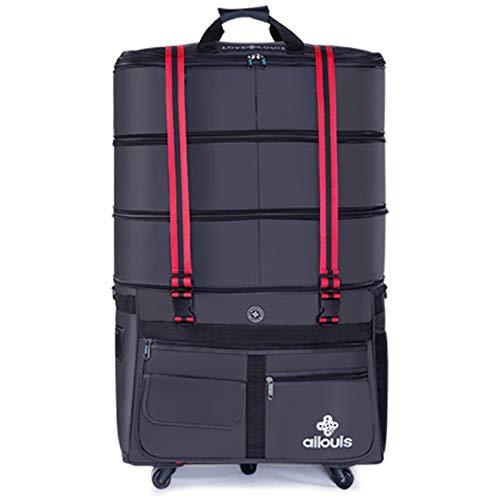 ボストンキャリー ボストンバッグ キャスター付き スーツケース 大容量 トロリーバッグ トラベルバッグ 防水キャリーバッグ 4段階拡張 静音5輪キャスター