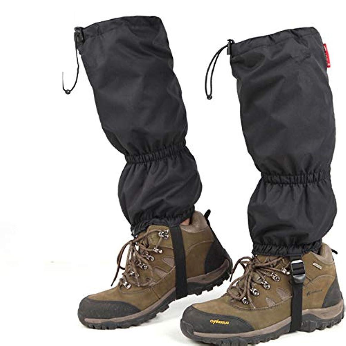 テーブルを設定するカートばかげた防水靴カバー レインシューズカバー足のガーター防水ハイキングゲーター耐久性の高いレギンス通気性の高いレッグカバーラップ用男性女性子供用マウンテントレッキングスキーウォーキング登山狩猟 - 1ペアの靴カバー雨雪
