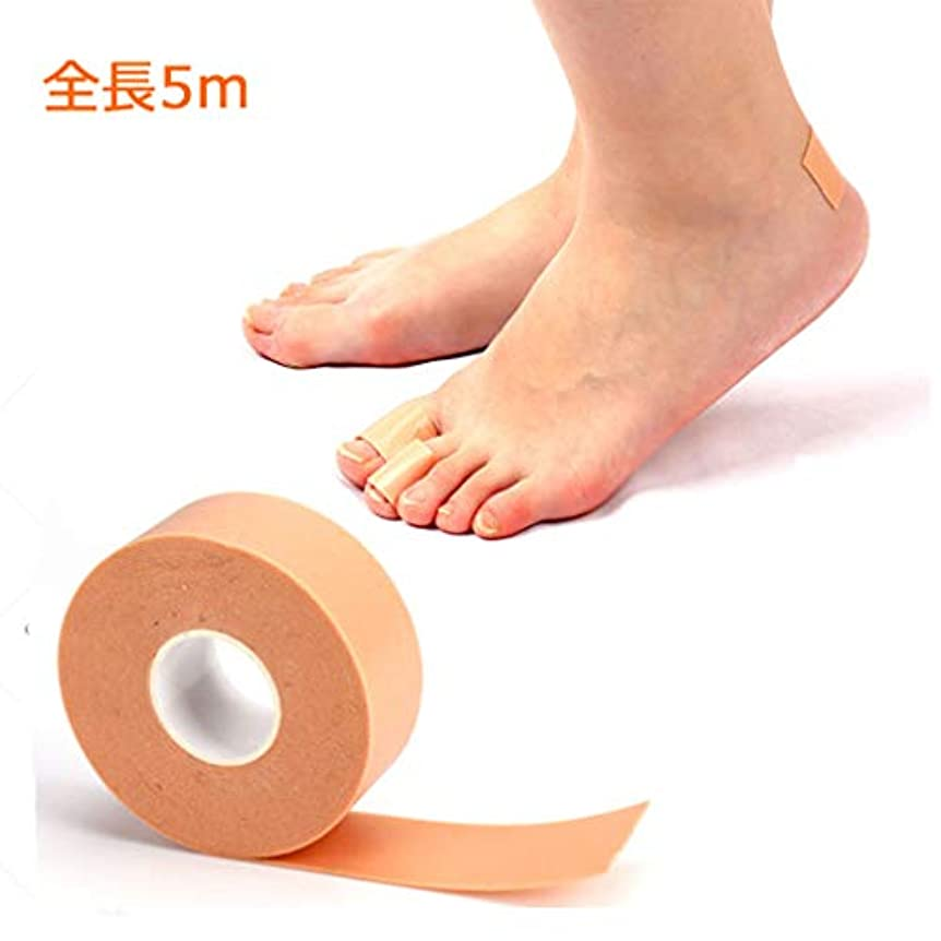 不屈該当するシンクATOETI 靴ずれ予防テープ 靴擦れ防止 かかと パッド ヒールステッカーテープ グ ラインドフットステッカー 切断可能 防水 かかと保護テープ 肌色 粘着 足痛み軽減 伸縮性抜群 男女兼用2.5cm*5m