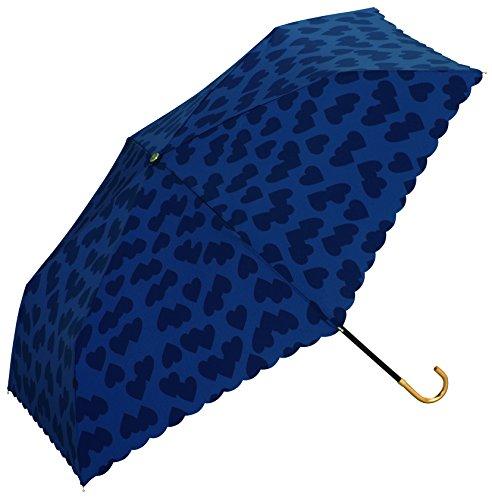 w.p.c 折りたたみ傘 ハートシャドー ミニ ネイビー 50cm 735-016
