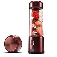 AXIANQI ポータブルジュースカップホームミニUSB充電Lafite赤フルメタルシェル防水スイッチ16オンス7.8 cm * 24 cm a (色 : Red, サイズ さいず : 7.8cm*24cm)