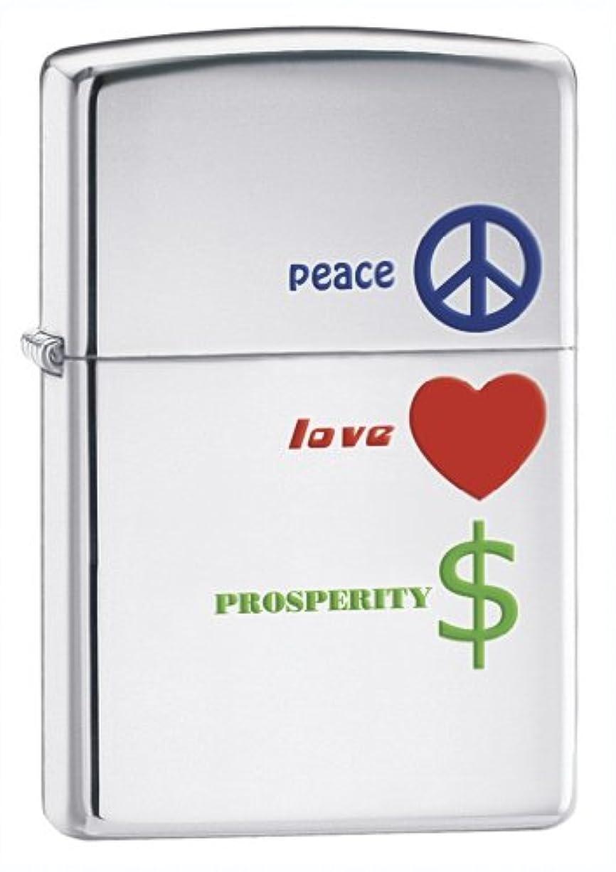 滑りやすい実質的放棄するZIPPO PEACE LOVE PROSPERITY