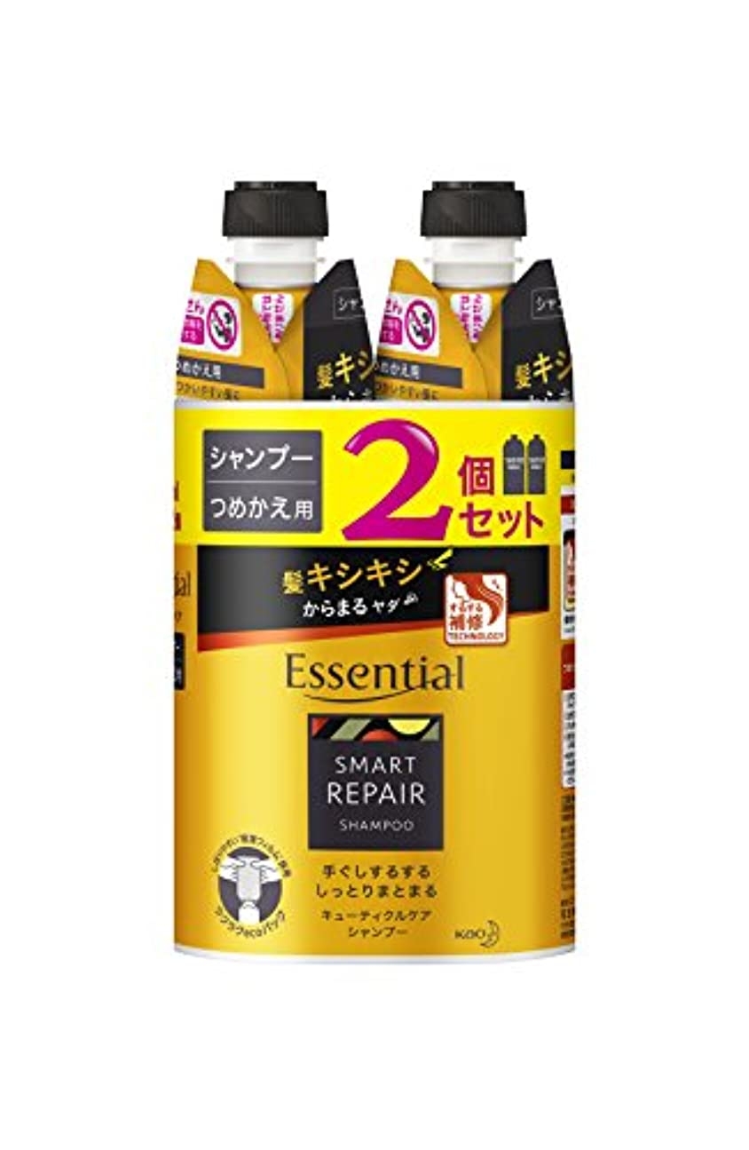 ブラケットフック節約【まとめ買い】 エッセンシャル スマートリペア シャンプー つめかえ用 340ml×2個