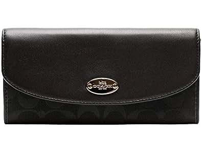 [コーチ] COACH 財布 (長財布) F53617 ブラック×ブラック SBKBK シグネチャー 長財布 レディース [アウトレット品] [並行輸入品]