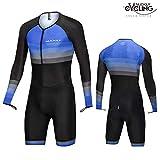 NUCKILY トライアスロンスーツ メンズ レーシング トライサイクリング スキンスーツ バイク 水泳 ラン