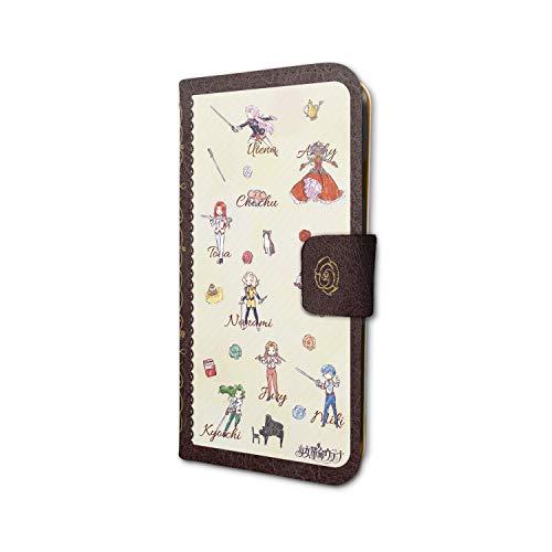少女革命ウテナ 01 ちりばめデザイン(グラフアート) 手帳型スマホケース(iPhone6 6s 7 8兼用)