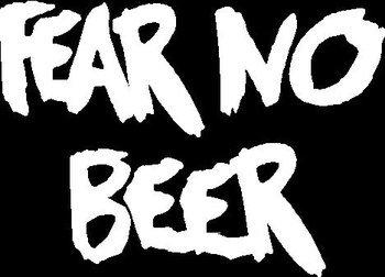 Fear No Beerビニールカットデカール|クーラー冷蔵...