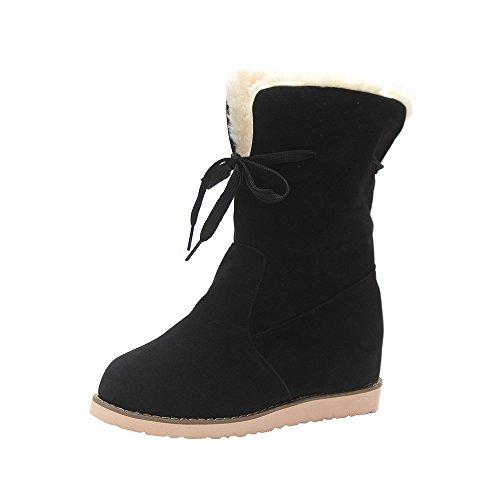 ブーツ Hosam レディース ブーツ 裏起毛 暖かい 雪靴 スノーシューズ 滑り止め 保温靴 美脚...