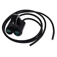 IPOTCH 照明 スイッチ 全3色 オートバイ ハンドルバー対応 12V 16A 7/8 インチ(22mm)防水 - グリーンボタン