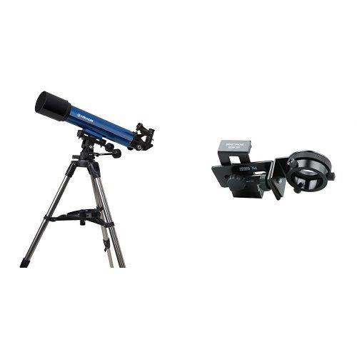 MEADE 天体望遠鏡 AZM-90 星空観測&撮影3点セット アクロマート 口径90mm 焦点距離600mm 屈折式 スマホ撮影アダプター付 003459