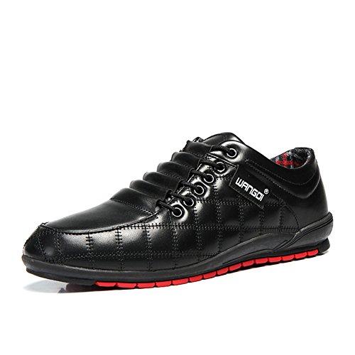 [Phefee] スニーカー メンズ レースアップシューズ ビジネスシューズ ワークブーツ 革靴 春靴 撥水加工 防滑 カジュアル 通勤