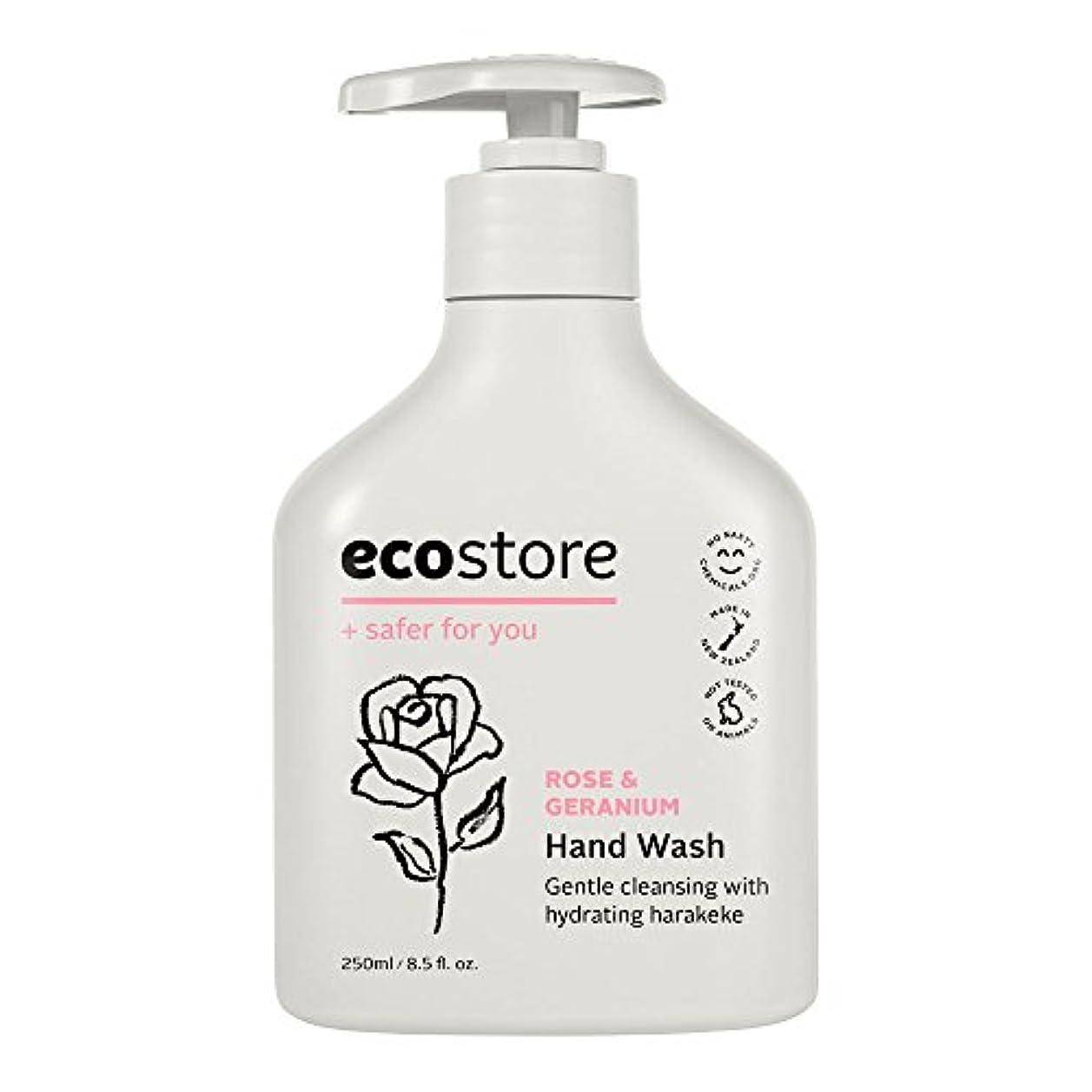 熱心なおめでとう回答ecostore(エコストア) ハンドウォッシュ 【ローズ&ゼラニウム】 250ml 液体タイプ