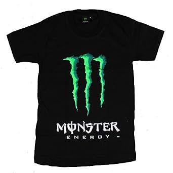 モンスター MONSTER フロント プリント 半袖 Tシャツ ブラック XL [T280]