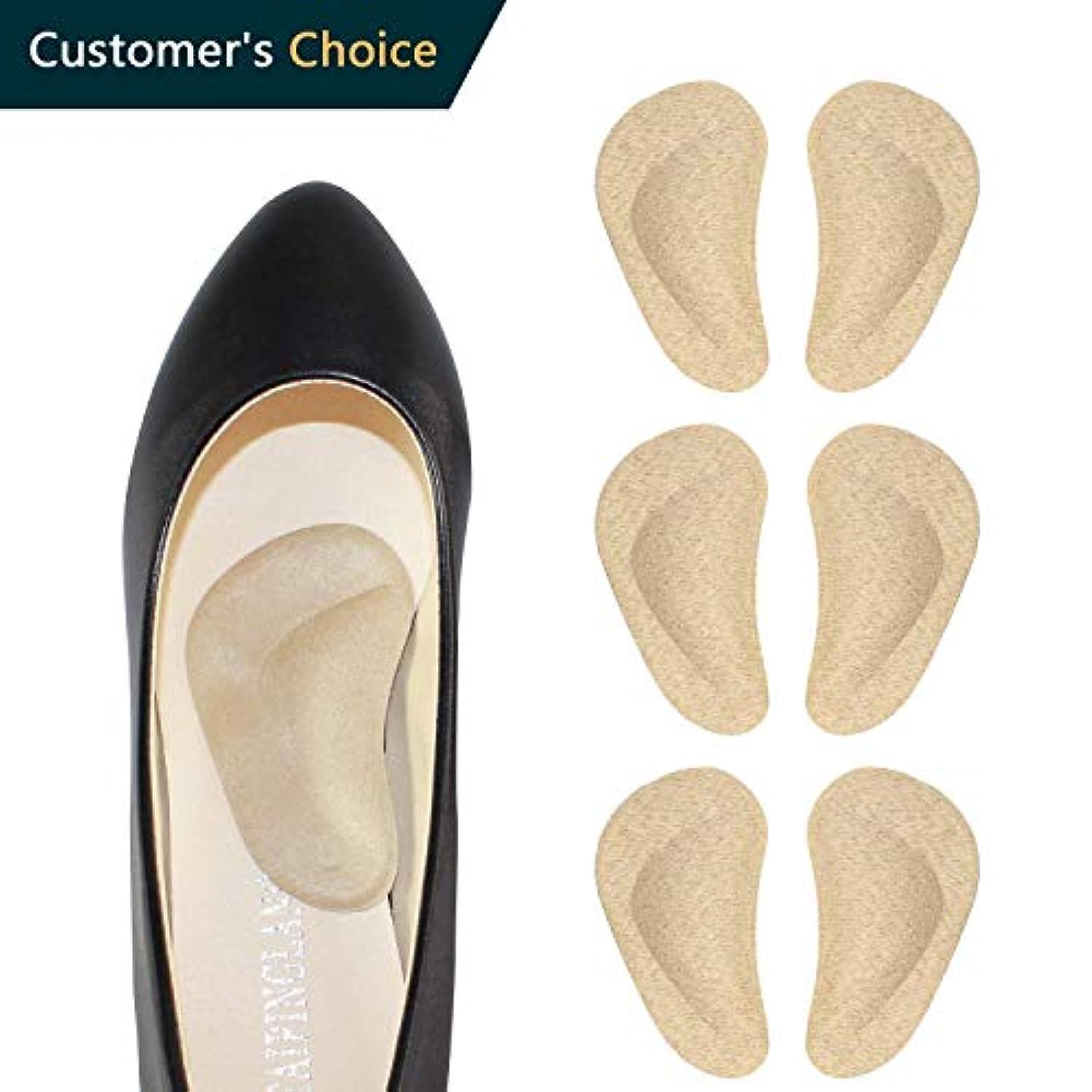 ENERFOOTヒールクッションが大きすぎる靴用の靴パッドを挿入します、靴ヒールパッドヒールグリップライナーミックス快適な靴ヒール用プロテクター