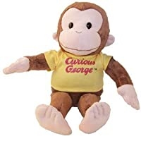 "Curious George 12 ""クラシックPlush by Russ Berrie ( Includes 1個々Curious George /シャツColors Vary )"