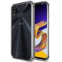 ASUS ZenFone5 ZE620KL/Zenfone5z ZS620KL透明 TPU携帯電話ケース 薄型 ソフト 背面全面保护 丈夫な 対衝撃 落下防止 超薄型 防指紋 、軽量シリコン 四角 バンパー 傷つけ防止 高品質 保護 四隅の厚 いエアバッグ 水洗可ケース ソフト クリア ( 透明) (Zenfone5 ZE620KL/Zenfone5z ZS620KL)