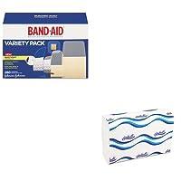 kitjoj4711wns101–Valueキット–バンドエイドSheer/Wet粘着包帯(joj4711) とWindsoft 101Bleachedホワイトエンボスc-fold Paper Towels (wns101)