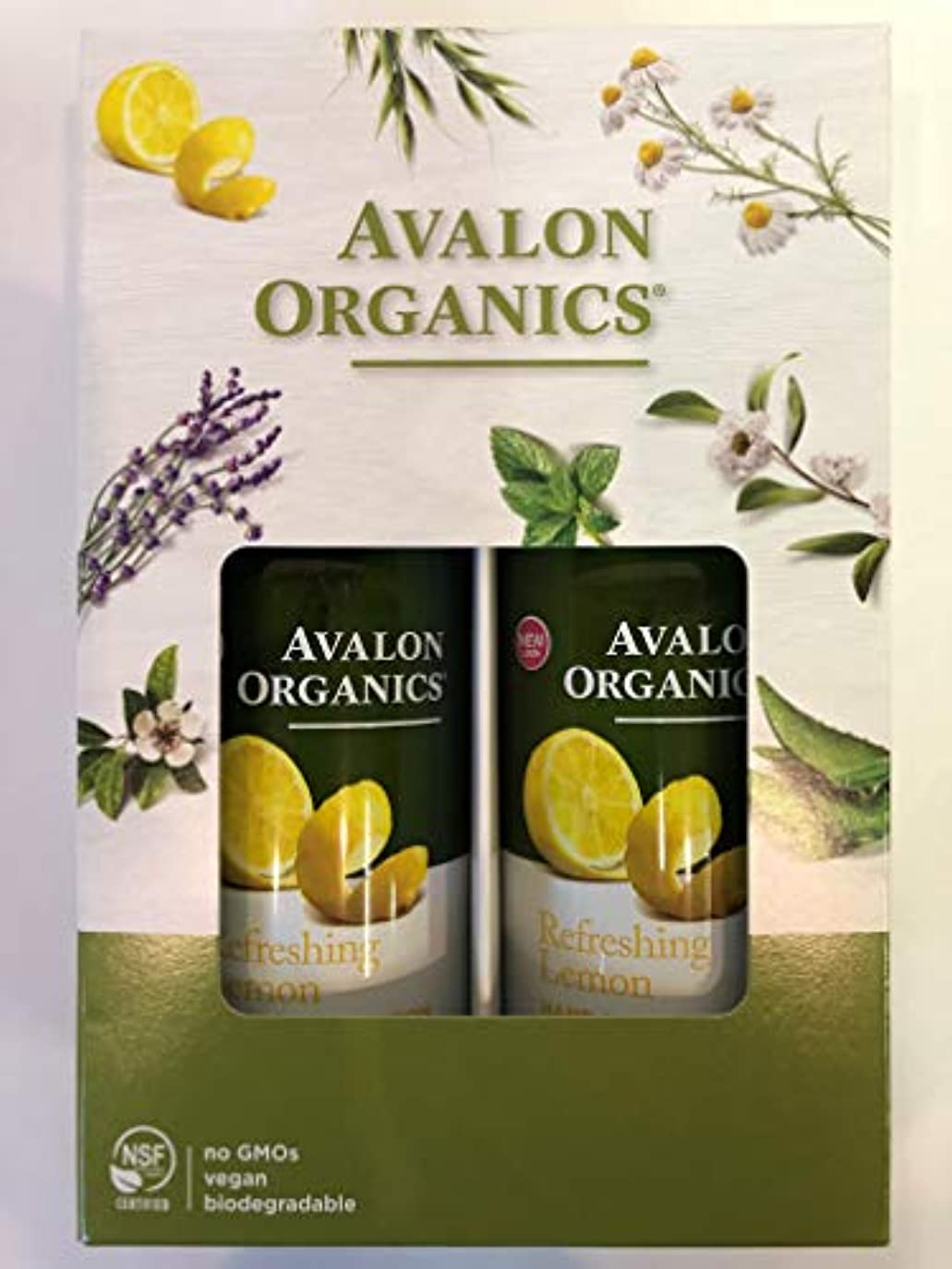 柔らかさ不器用検閲AVALON ORGANICS アバロンオーガニクス ハンド&ボディローション レモン 340g×2