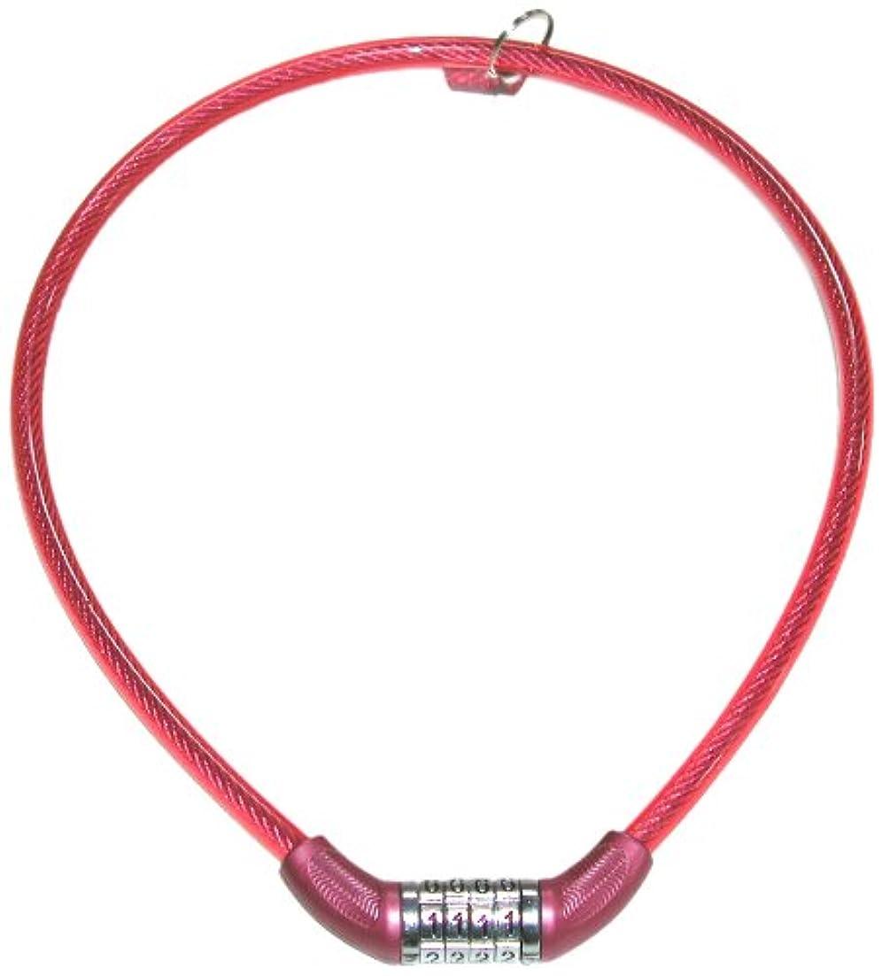 保険をかけるとして測定GORIN(ゴリン) COLOR'S コンパクトカラフル4連ダイヤル錠 ピンク 8x600㎜ 02538