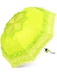 グリーンSweetレディース傘レース超軽量UV保護日焼け止め折り畳み傘
