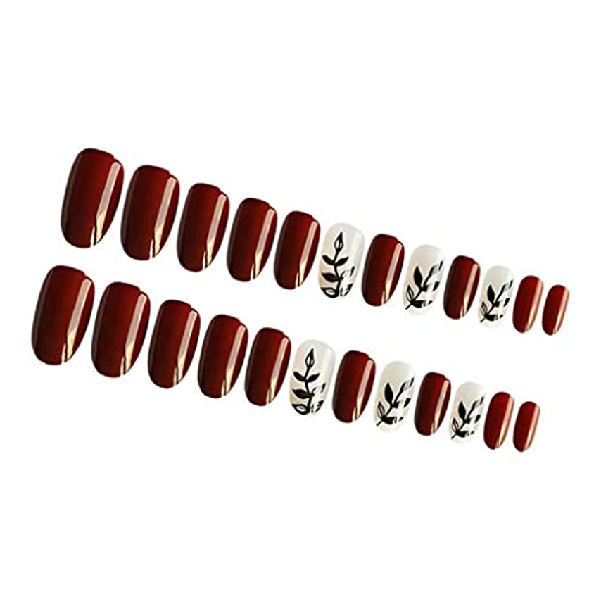 寛容ポインタメタンInjoyo つけ爪 付け爪 ネイルチップ 人工爪 ネイルステッカー 永続的 防水 ABS材料 約24個入り 全4カラー - 01