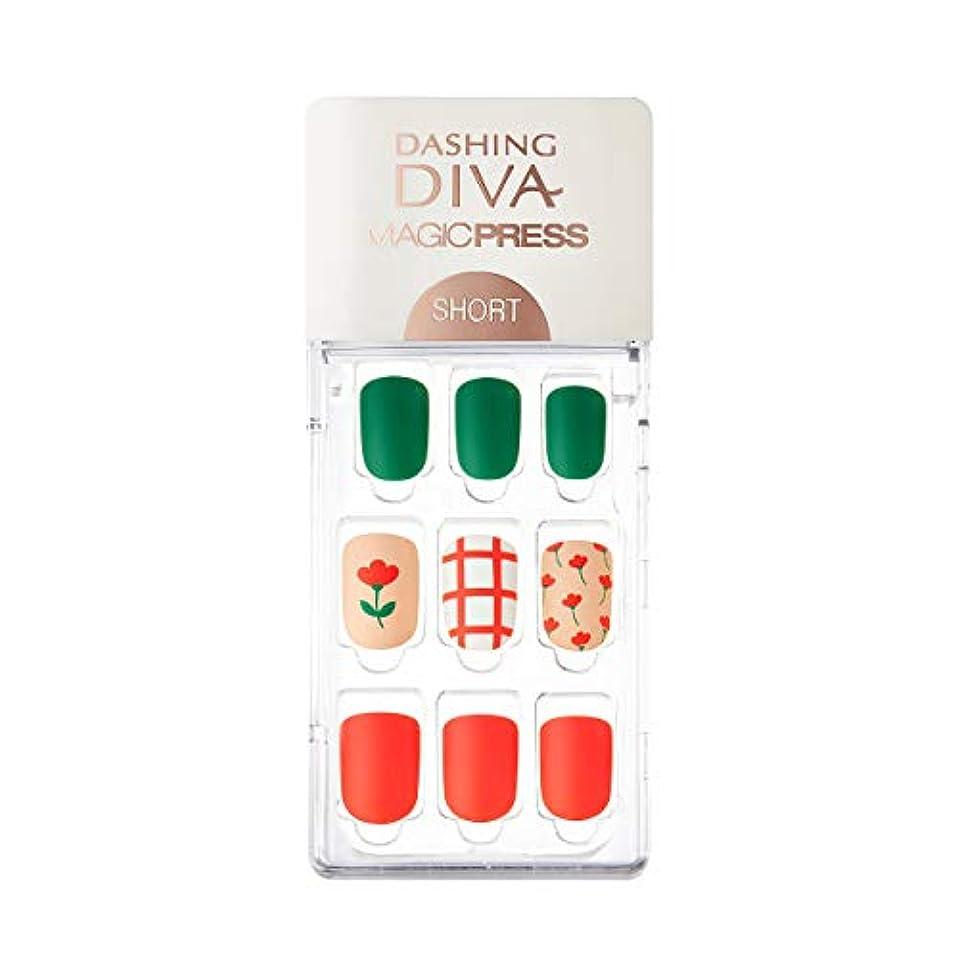 牧師バター野心ダッシングディバ マジックプレス DASHING DIVA MagicPress MDR_289SS-DURY+ オリジナルジェル ネイルチップ Tulip Crush