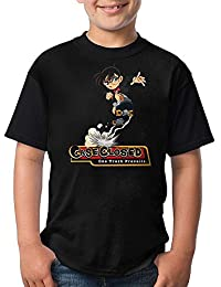 永遠X007 おしゃれ 名探偵コナン Detective Conan カスタマイズ プリント 運動 カジュアル 男女兼用 ユニセックス キッズ ボーイズ ガールズ 半袖 Tシャツ トップス