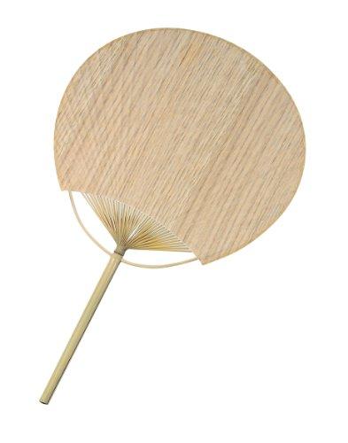 うちわ 男女兼用 樹の紙 樫のうちわ 約22×35.5cm