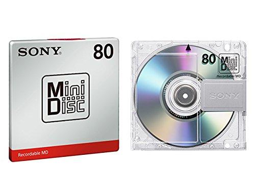SONY ミニディスク (80分、1枚パック) MDW80T