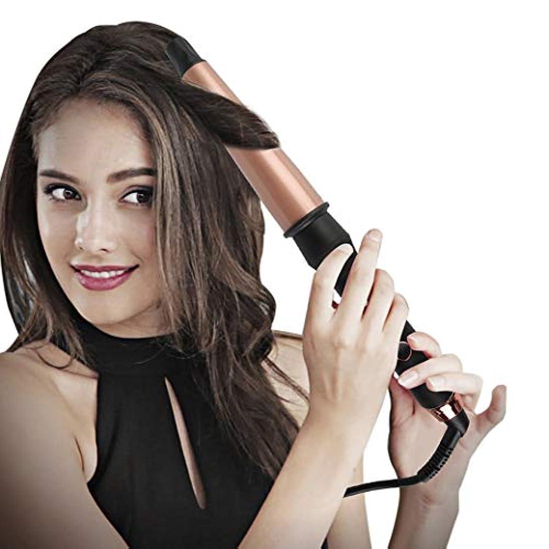 水分引く悪性のトルマリンセラミックカーリング鉄カーリングアイロンスパイラルヘアスティック手袋を送信する髪カーラーパーマ液晶自動カーリングアイロンポータブルヘアカーラー髪を傷つけるしない