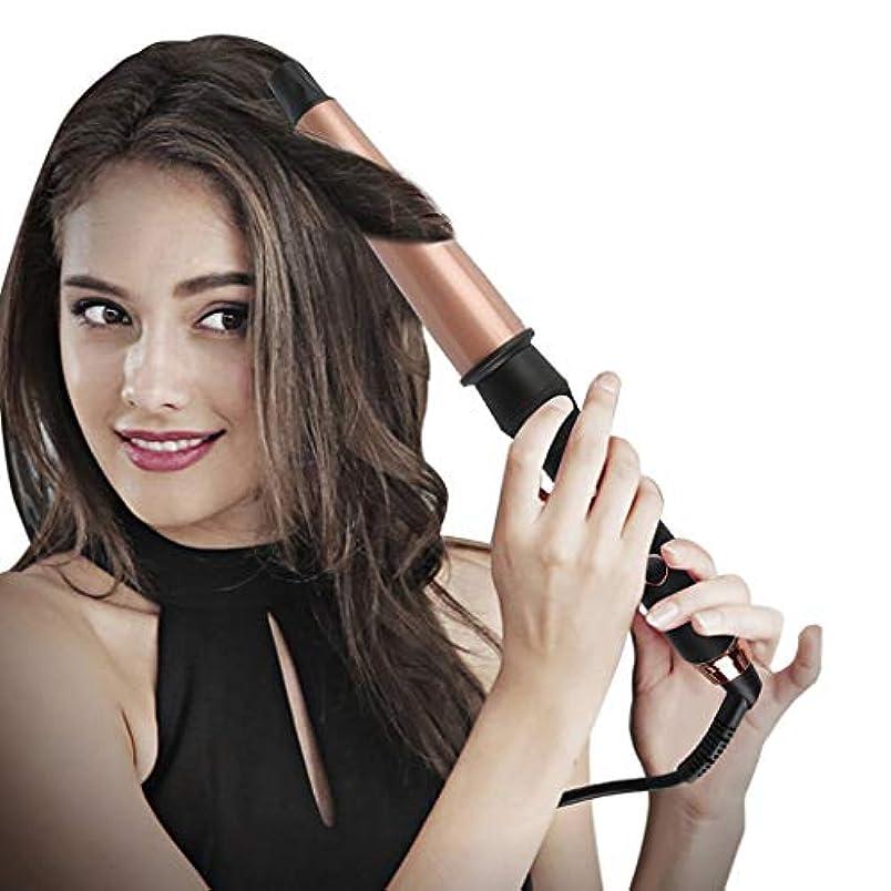 国際分岐する共役トルマリンセラミックカーリング鉄カーリングアイロンスパイラルヘアスティック手袋を送信する髪カーラーパーマ液晶自動カーリングアイロンポータブルヘアカーラー髪を傷つけるしない