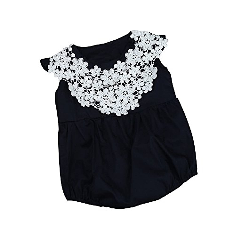 Lutents ベビー服 ロンパース カバーオール 編みレース 可愛い 女の子 カジュアル 快適 着心地良い 歩行服 パジャマ 新生児 出産祝いプレゼント