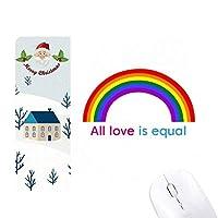 愛は平等 サンタクロース家屋ゴムのマウスパッド