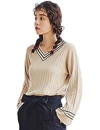 PIITE セーター レディース Vネック かわいい ファッション 厚手 柔らかい 体型カバー ニット おしゃれ 秋 冬 カジュアル 韓国風 フレアスリーブ ニットセーター