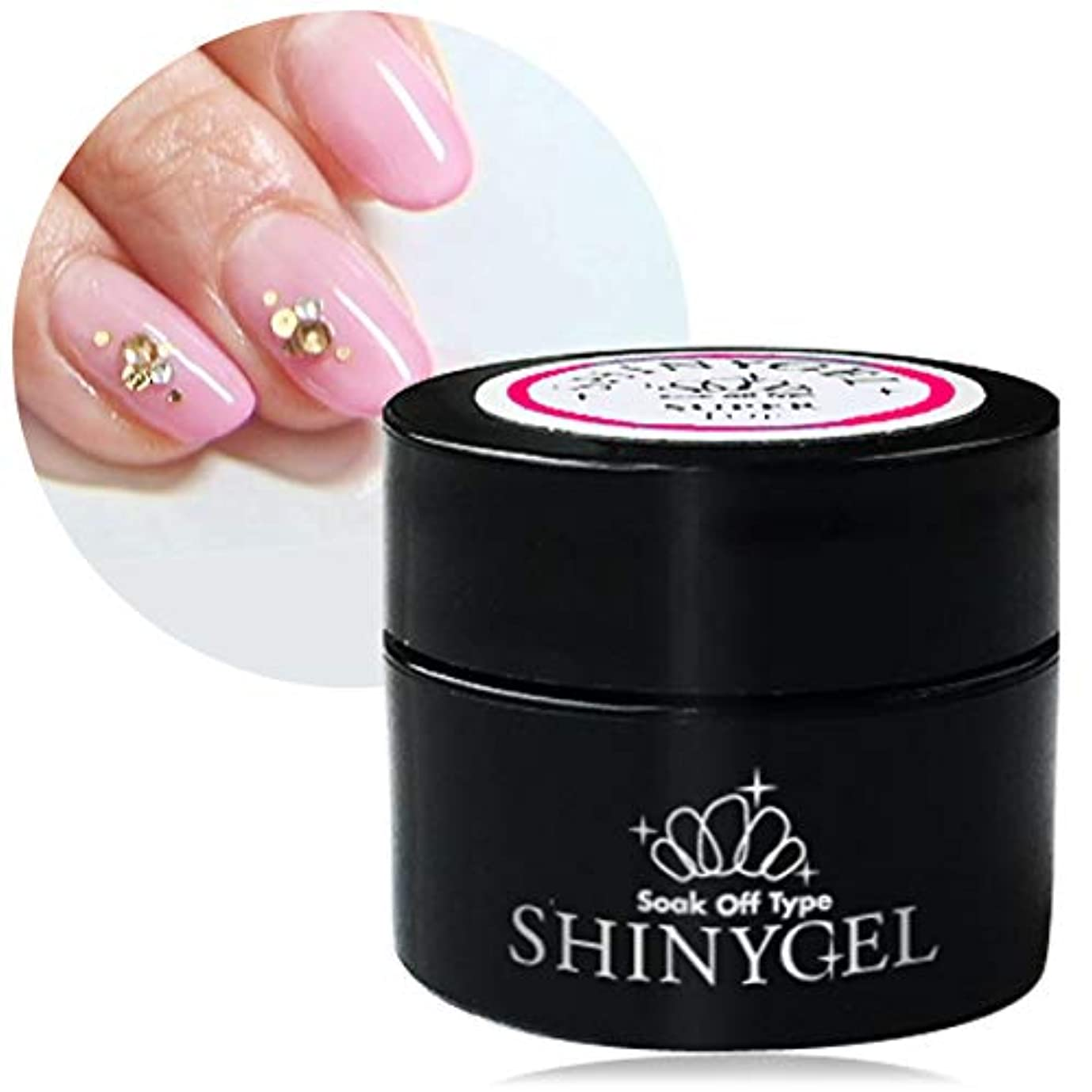 鋼便益簡略化する[UV/LED対応○] SHINYGEL シャイニージェル スーパートップ/5g <セミハードタイプ>爪にやさしく 極上のツヤとうっとりする透明感 100%純国産原料使用
