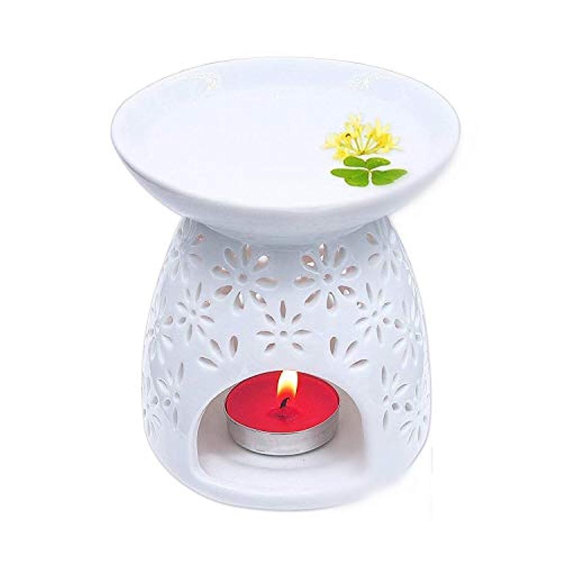 楕円形差主婦Pursue 茶香炉 アロマ炉 香炉 陶器 精油 香炉置物 薫香 インテリア アロマディフューザー 中空の彫刻工 消臭と癒し おしゃれ