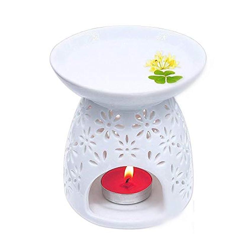 段落韓国証人Pursue 茶香炉 アロマ炉 香炉 陶器 精油 香炉置物 薫香 インテリア アロマディフューザー 中空の彫刻工 消臭と癒し おしゃれ