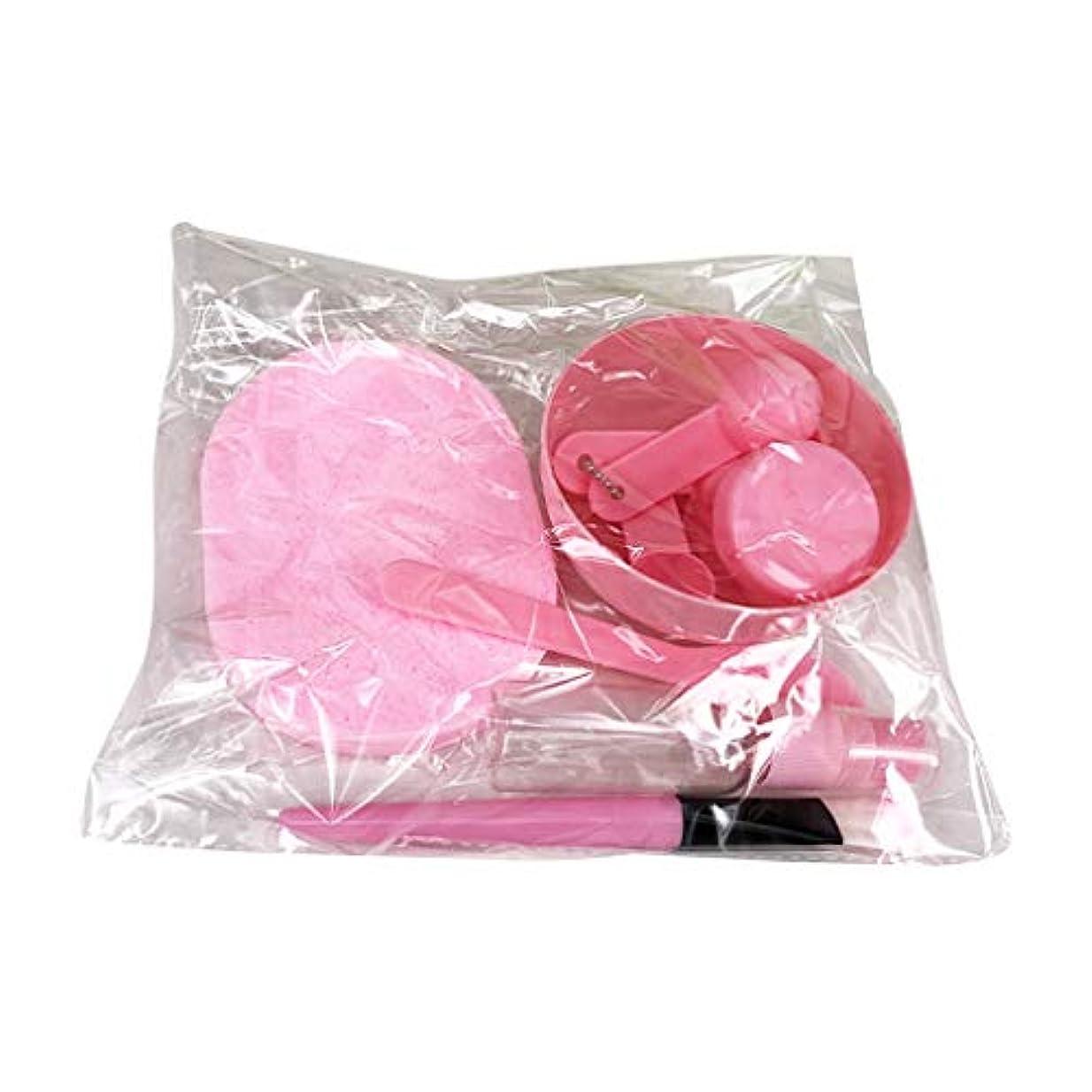 Vonaryl 美容パック用道具 マスクツール プラスチックボウル メイクアップツール フェイシャルマスクツール 9点セット DIY用品 スライム用ボウル サロン用具 全3色あり