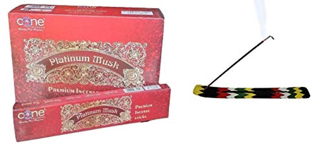 評論家と組む触覚Platinum Musk Incense Sticks (Pack of 12=144 Sticks)