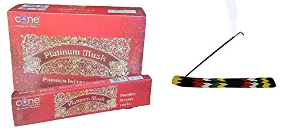 反発爬虫類寄託Platinum Musk Incense Sticks (Pack of 12=144 Sticks)