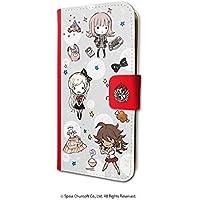 ダンガンロンパ1・2 Reload 05 ちりばめデザイン05(グラフアートデザイン) 手帳型スマホケース iPhone6/6S/7/8兼用