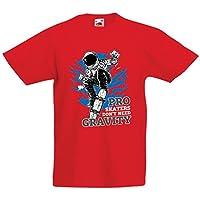 lepni.me Kids Boys/Girls T-Shirt Pro Skaters Don't Need Gravity - Skateboard Sayings, Skate Life Quotes