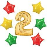 アドワン 数字 風船 バルーン 飾り付け 誕生日 ゴールド 大きい 数字1~9 文字 記念日 お祝い (2)