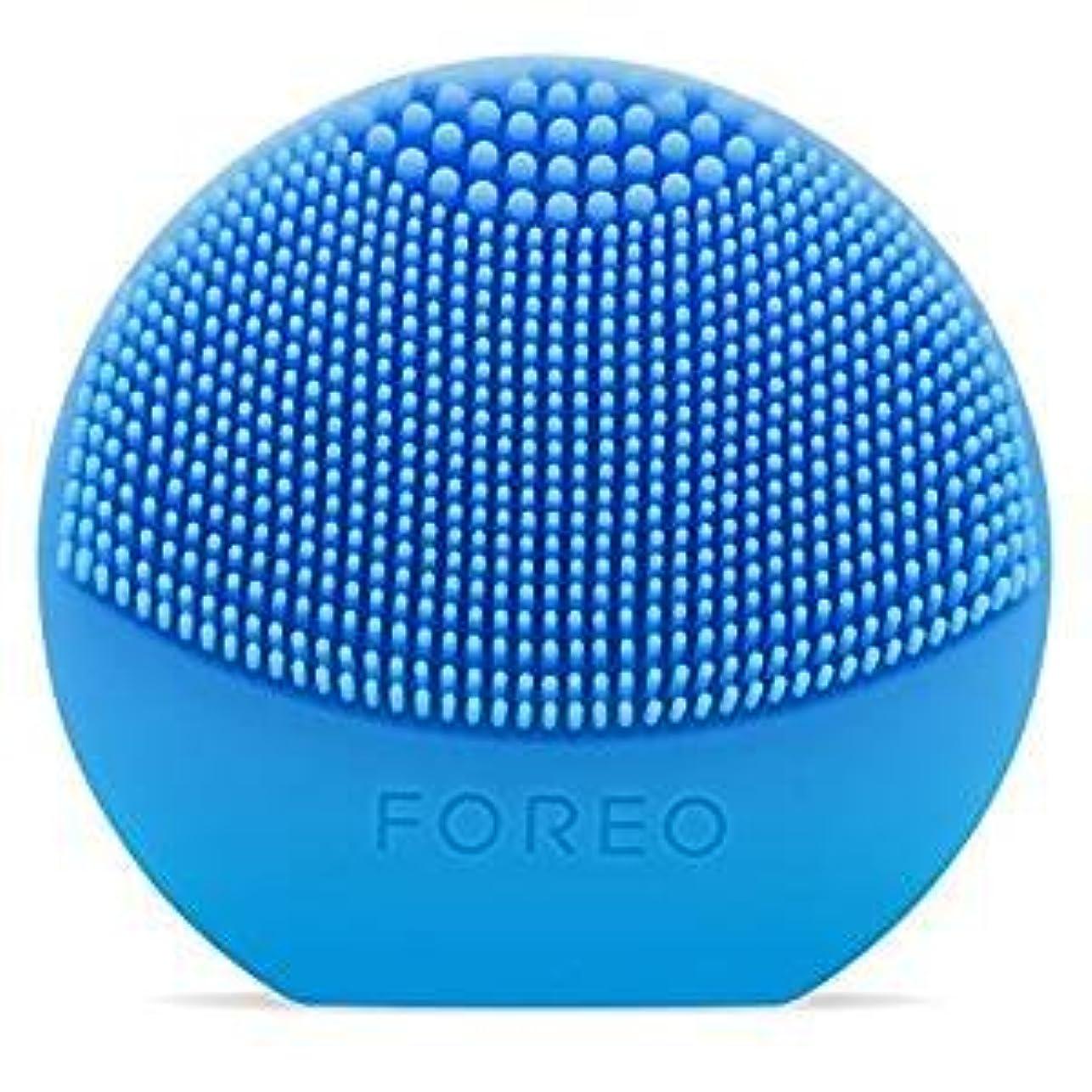 長方形刺します冷笑するFOREO LUNA Play Plus アクアマリン シリコーン製 音波振動 電動洗顔ブラシ 電池式