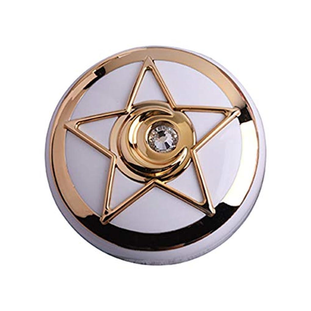 HEALLILY コンタクトレンズトラベルケースラウンドコンタクトレンズボックス、溶液ボトルピンセットミラー付き、屋外での日常使用用(ゴールデン)
