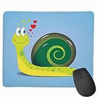 マウスパッド カタツムリ ブルー グレー ゲーミング オフィス最適 おしゃれ 疲労低減 滑り止めゴム底 耐久性が良い 防水 かわいい PC MacBook Pro/DELL/HP/SAMSUNGなどに 光学式対応 高級感プレゼント Tartiny