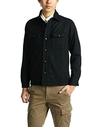 Melton CPO Shirt 51-11-0041-012: Navy