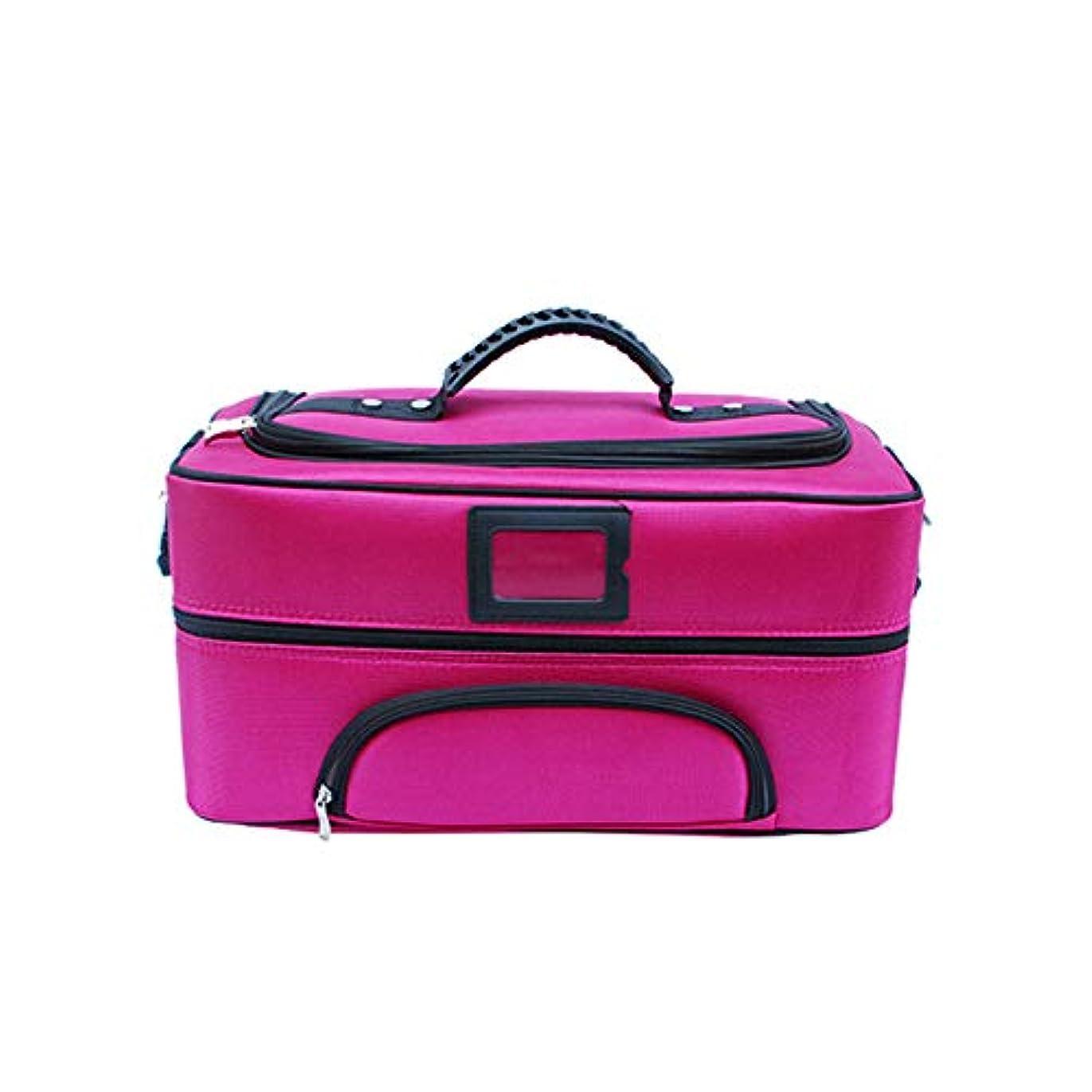 頼む避ける先入観化粧オーガナイザーバッグ ジッパーで旅行と毎日のストレージのための美容メイクアップのポータブルカジュアルメイク化粧品収納ケース 化粧品ケース