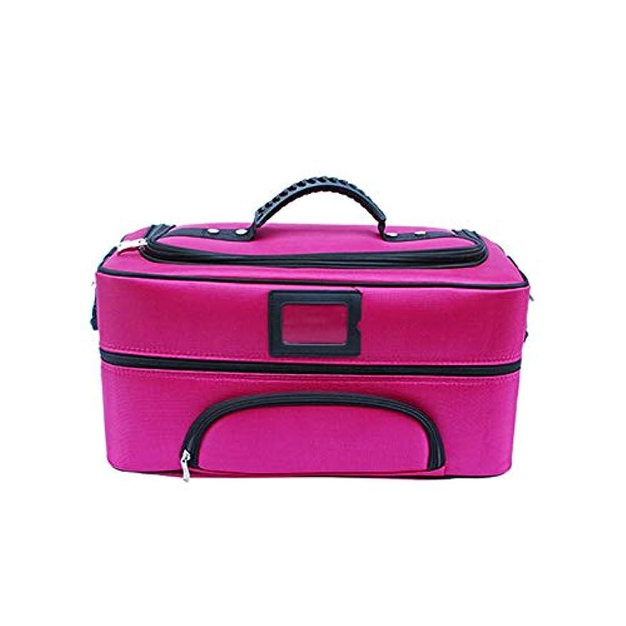 強打アロング驚き化粧オーガナイザーバッグ ジッパーで旅行と毎日のストレージのための美容メイクアップのポータブルカジュアルメイク化粧品収納ケース 化粧品ケース