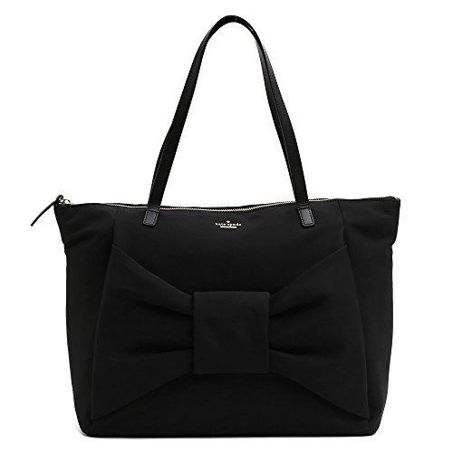 (ケイトスペード)KATE SPADE ヨガバッグ スポーツバッグ ショルダーバッグ ビックリボン ナイロン素材 (ブラック) PXRU7801 001/BLACK [並行輸入品]